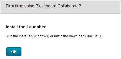 Install the Launcher pop-up dialog